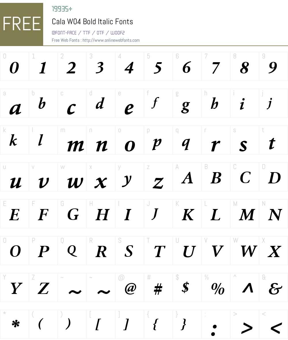HT Cala Font Screenshots