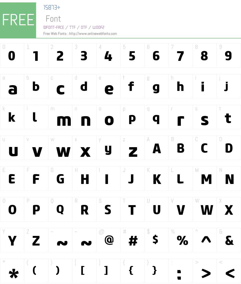 CoreSansMW01-75ExtraBold Font Screenshots