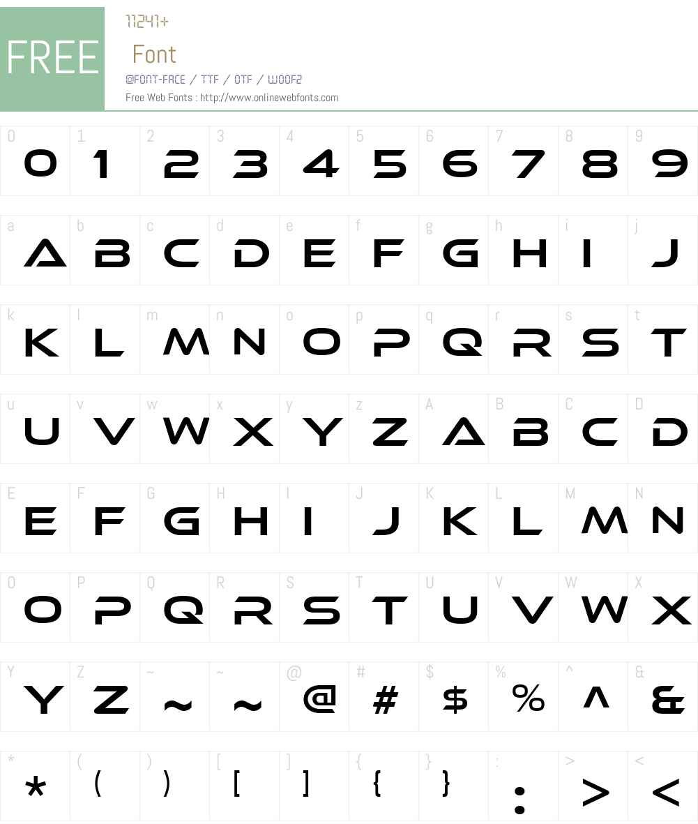 EthnocentricW00-Book Font Screenshots