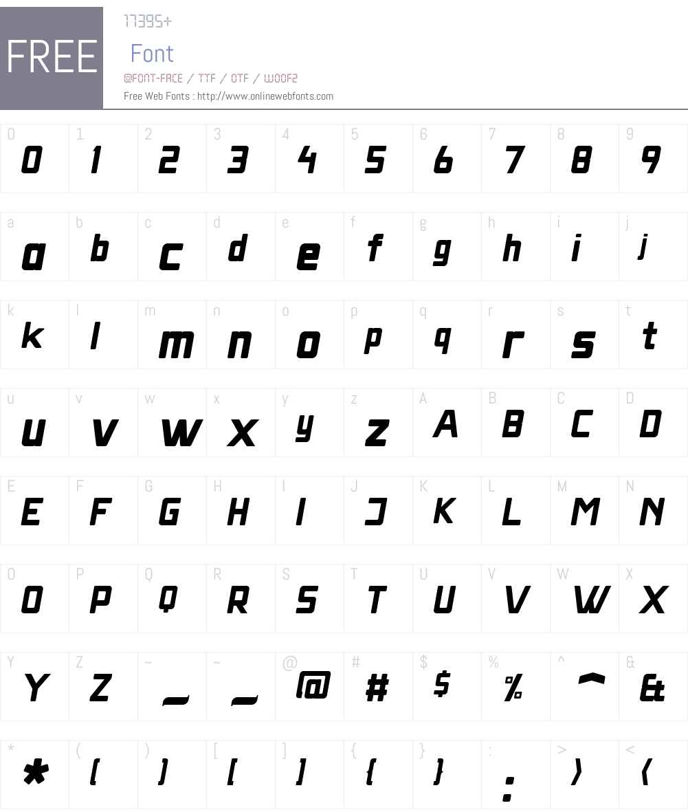 MassivaGrotesqW00-QOblique Font Screenshots