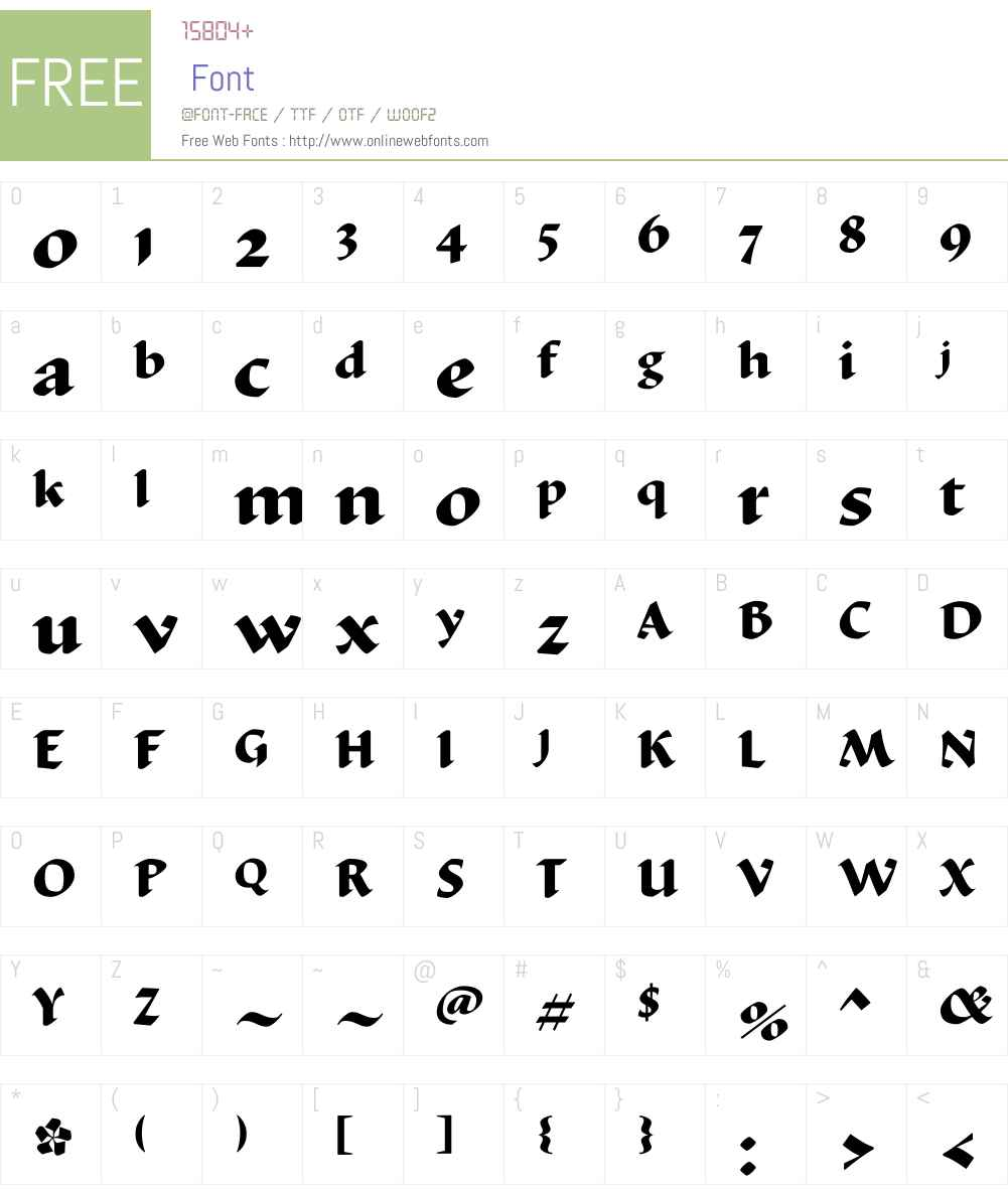 DuctusW01-Bold Font Screenshots