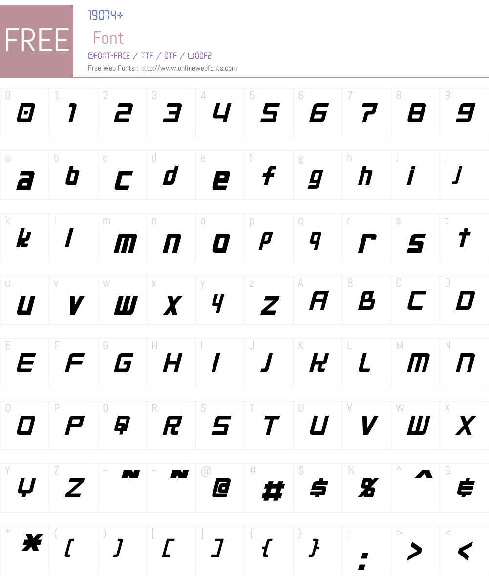 Neo Gen Font Screenshots