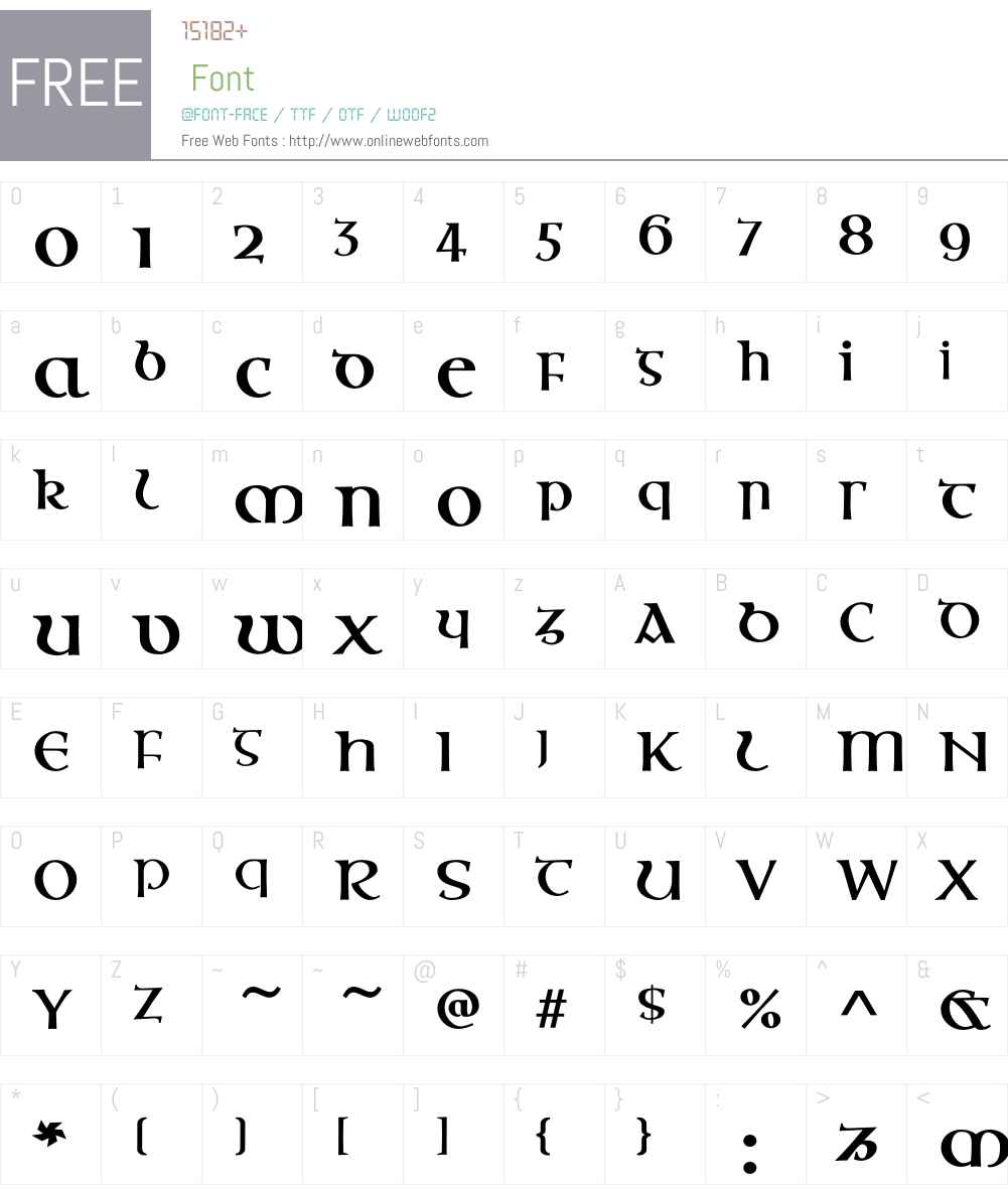 OssianEF Font Screenshots
