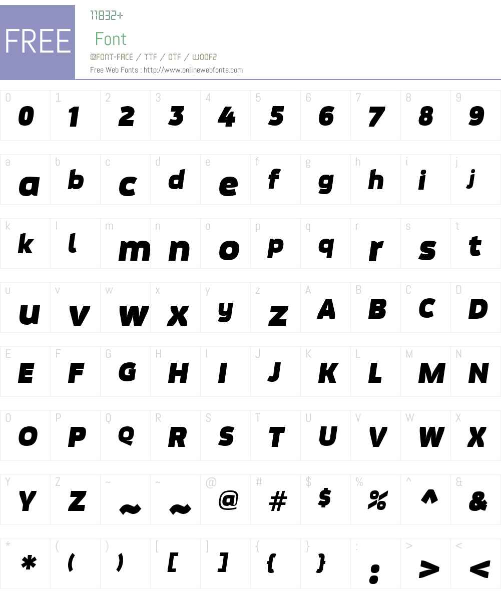 Movavi Grotesque Font Screenshots