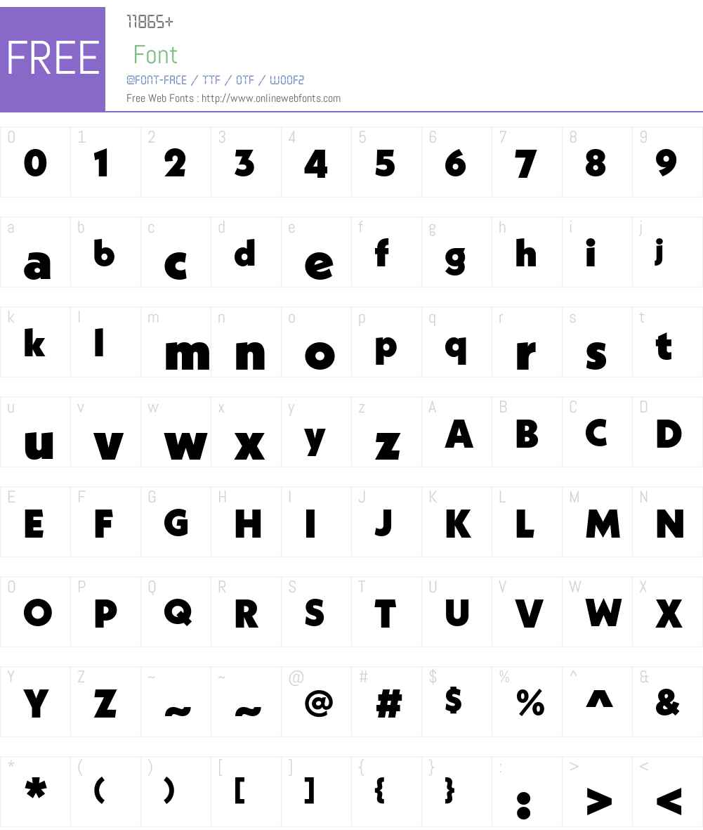 NeueKabelW01-Black Font Screenshots