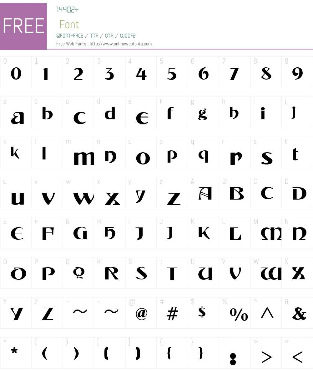 TintorettoW01-Fill Font Screenshots