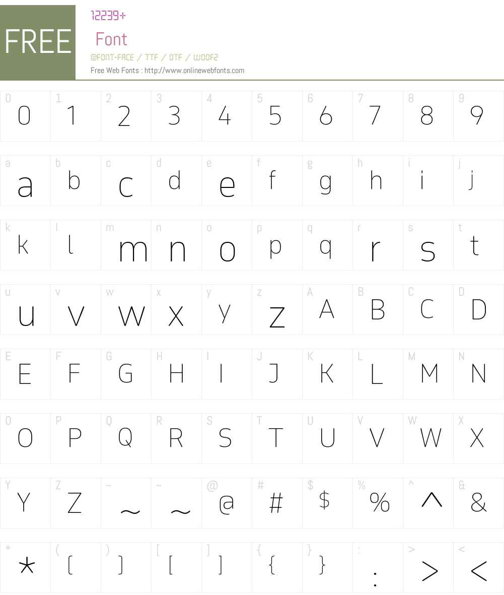 Teshrin AR+LT Thin Font Screenshots