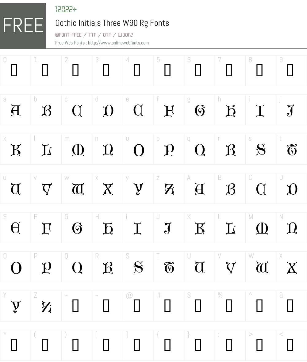 Gothic Initials Three Font Screenshots