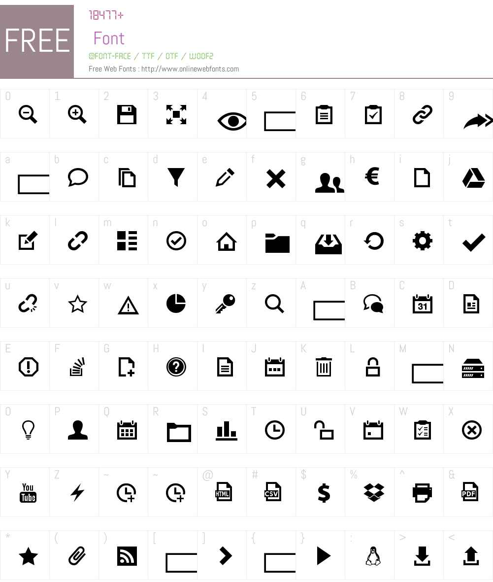 EasyIcons Font Screenshots
