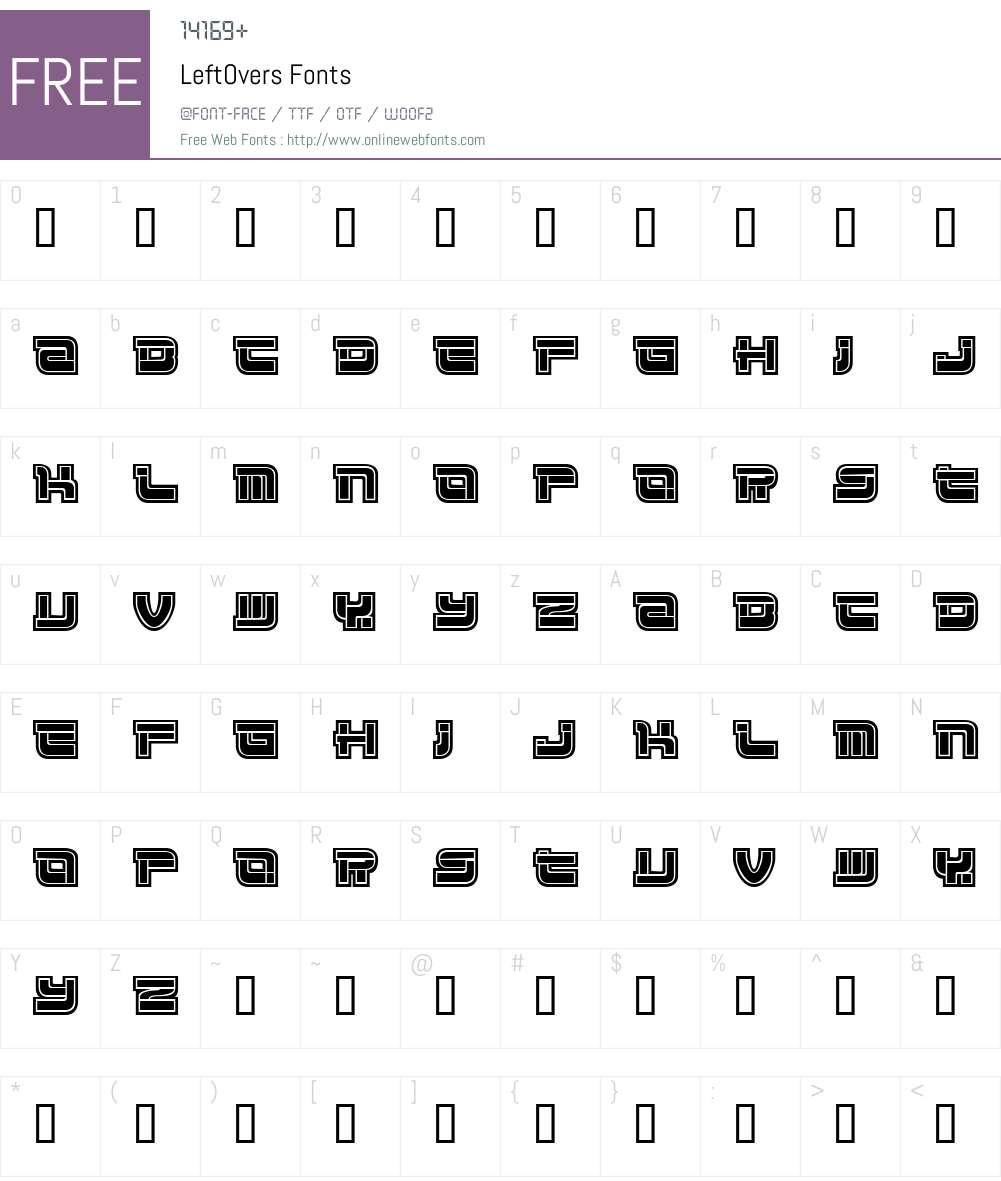 LeftOvers Font Screenshots