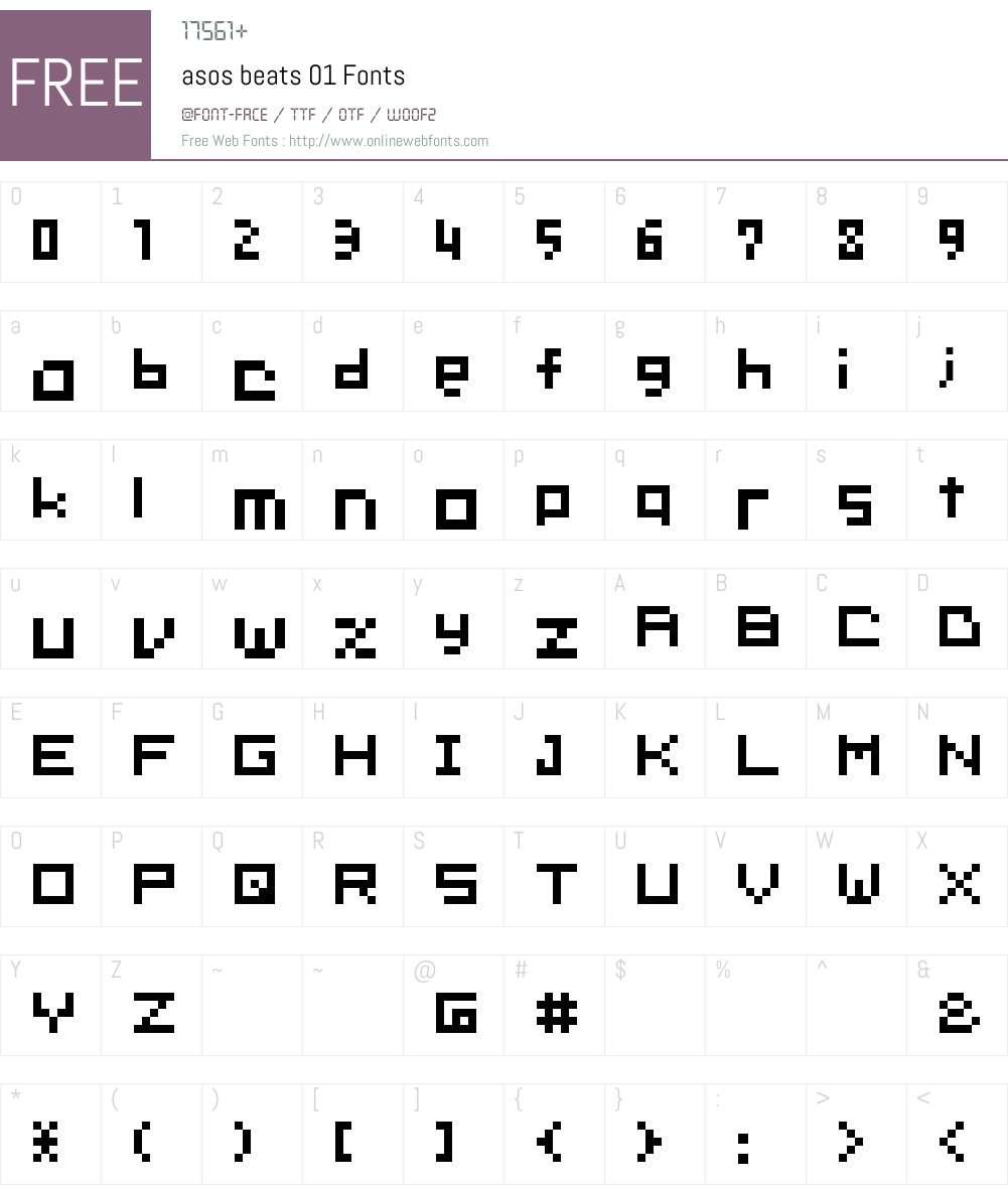 asos beats 01 Font Screenshots