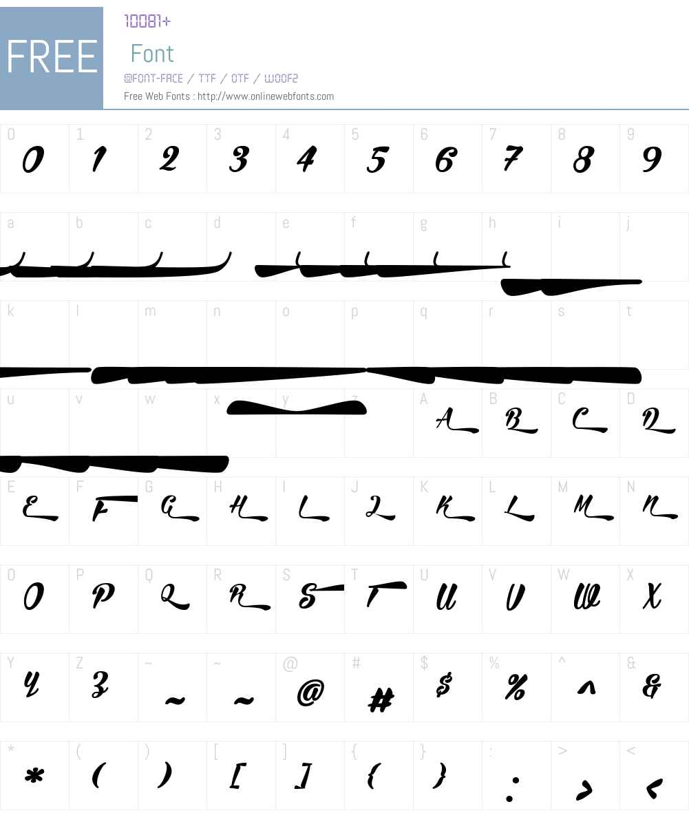 BiraW90-Swash Font Screenshots