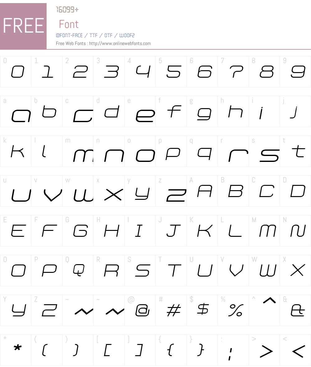 PhantomLight Italic Font Screenshots