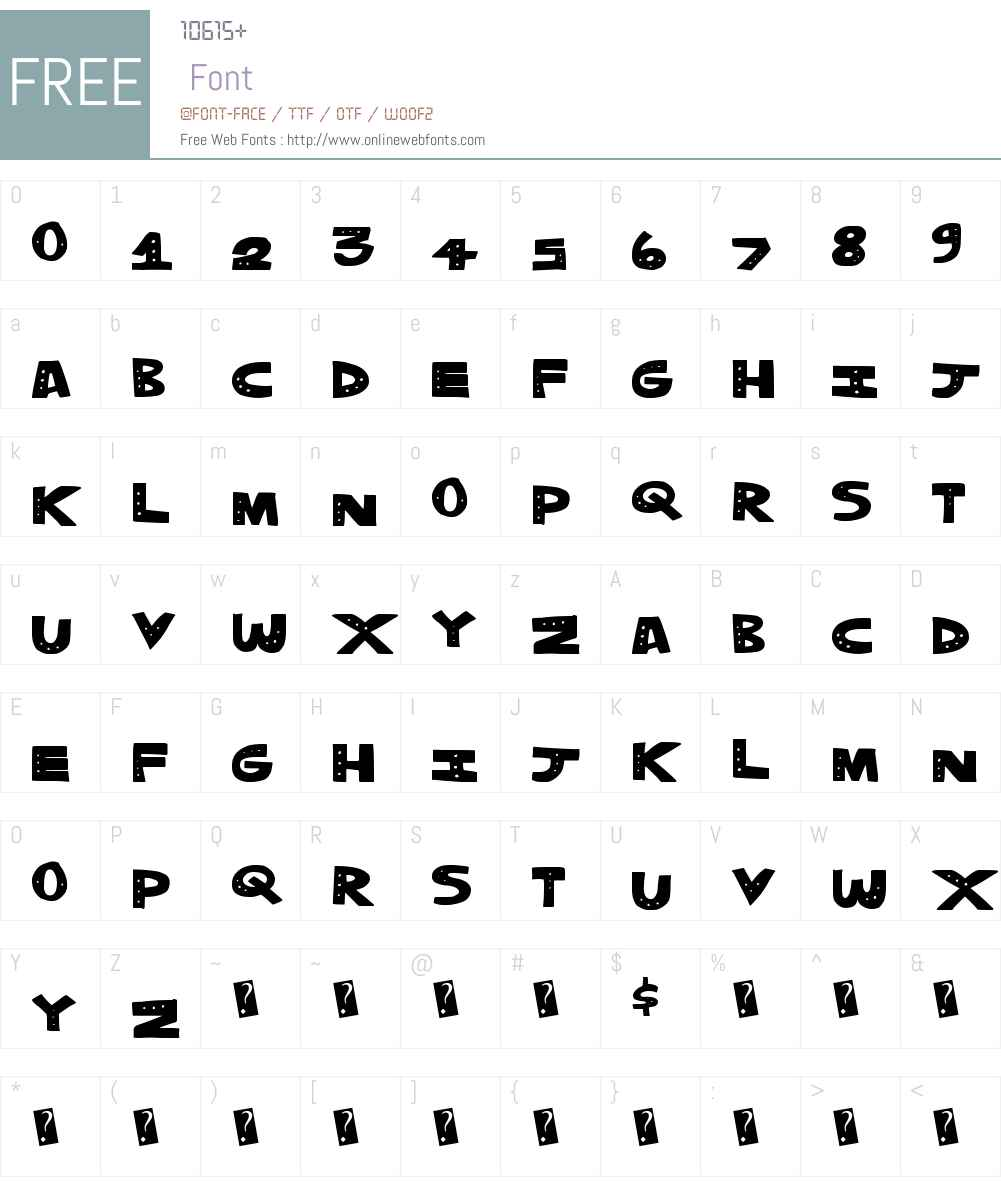 TrippleDots Font Screenshots