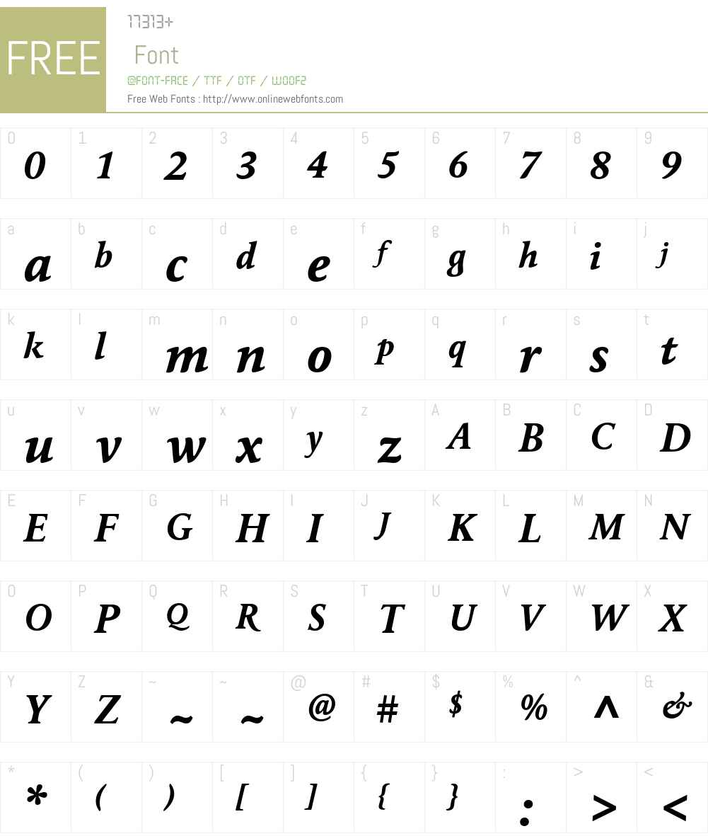 MaximeW01-BoldItalic Font Screenshots