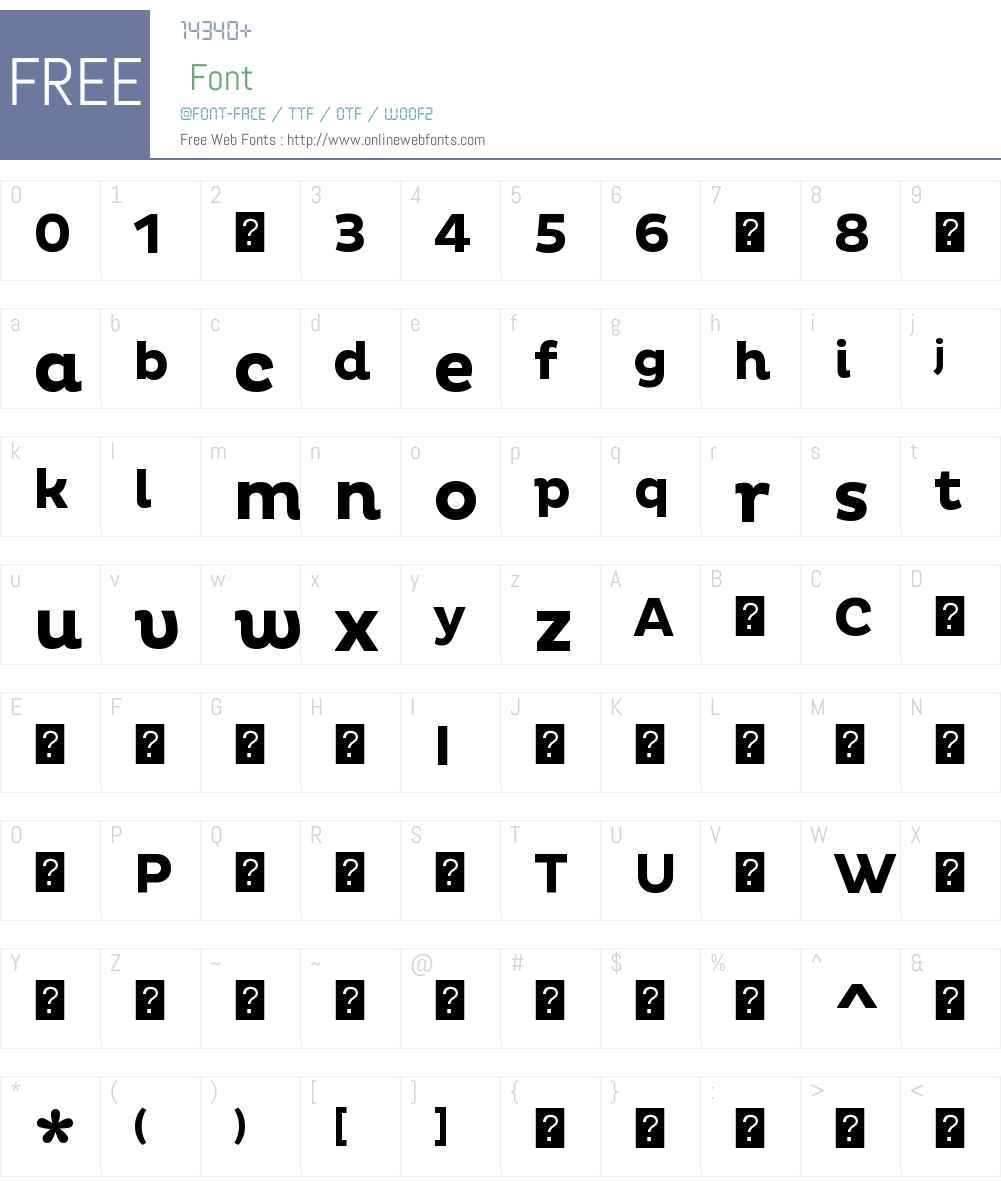 PlutoBold Font Screenshots