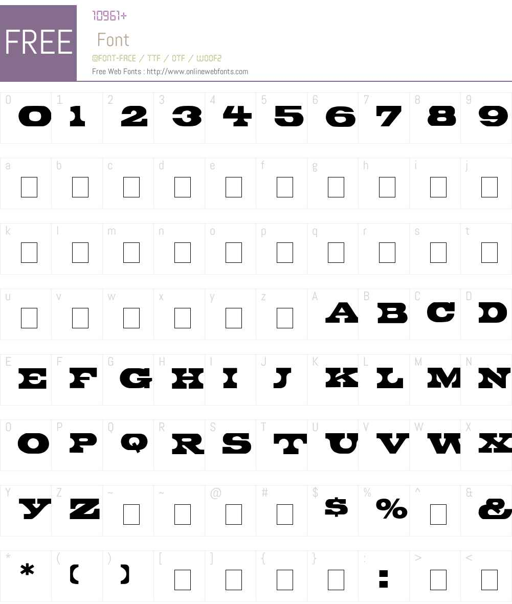 Bronte Display Caps SSi Font Screenshots
