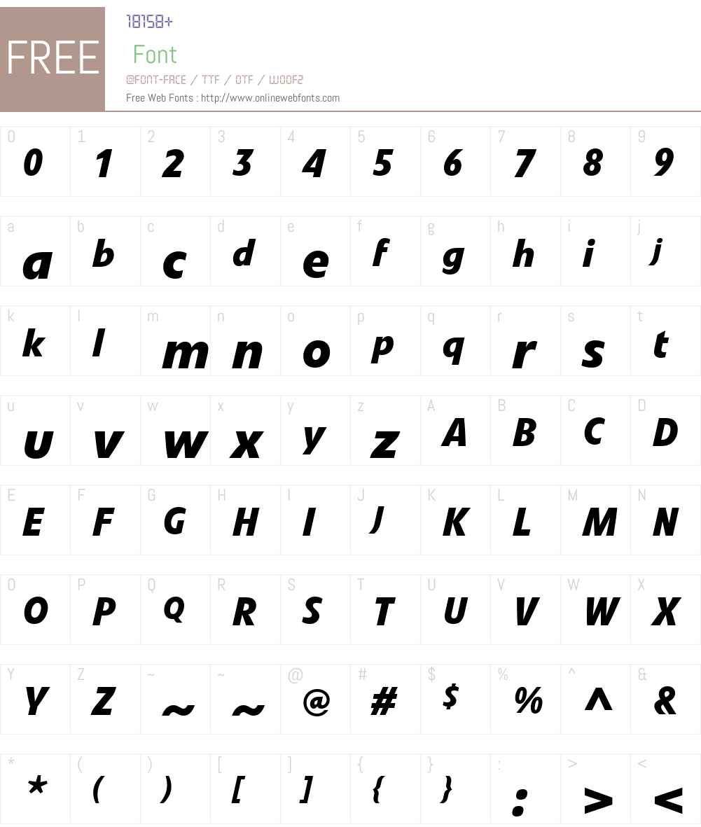 VetoW01-BoldItalic Font Screenshots