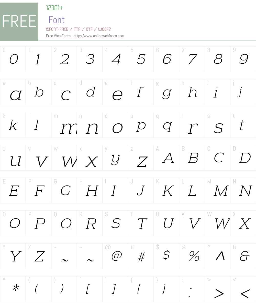 Donnerstag Light Italic Font Screenshots