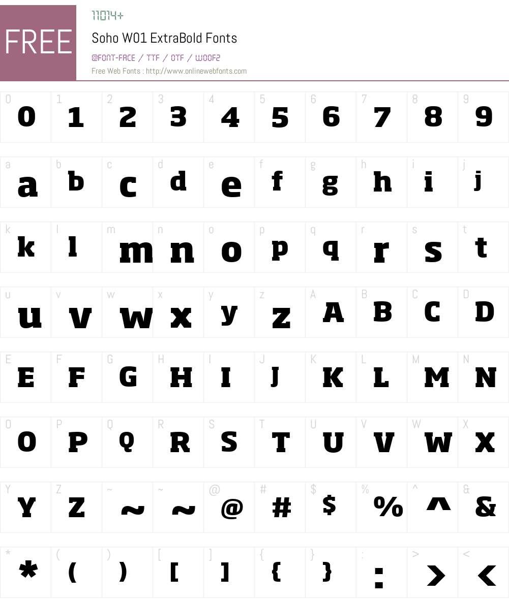 SohoW01-ExtraBold Font Screenshots