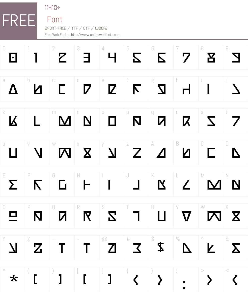 Nick Turbo Font Screenshots