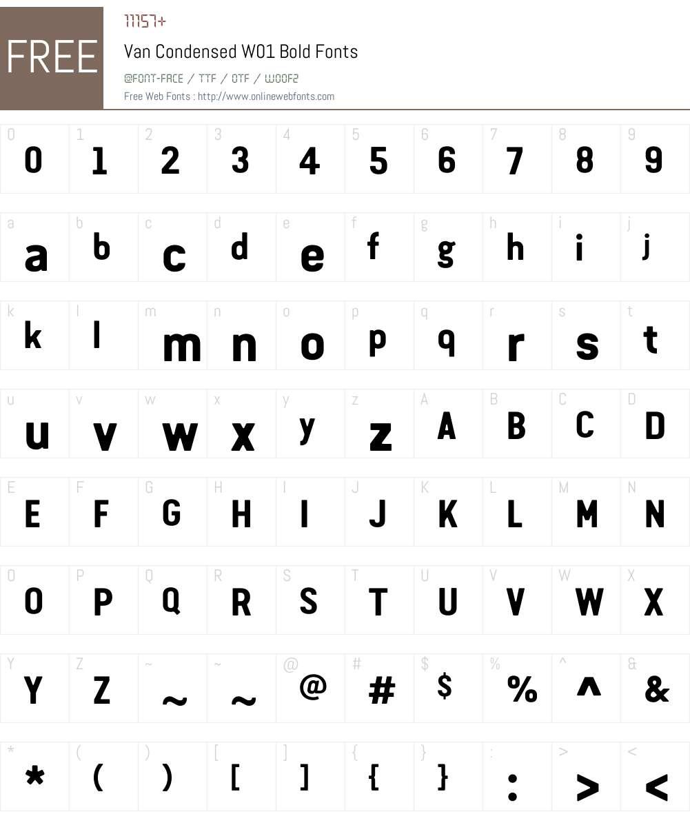 VanCondensedW01-Bold Font Screenshots