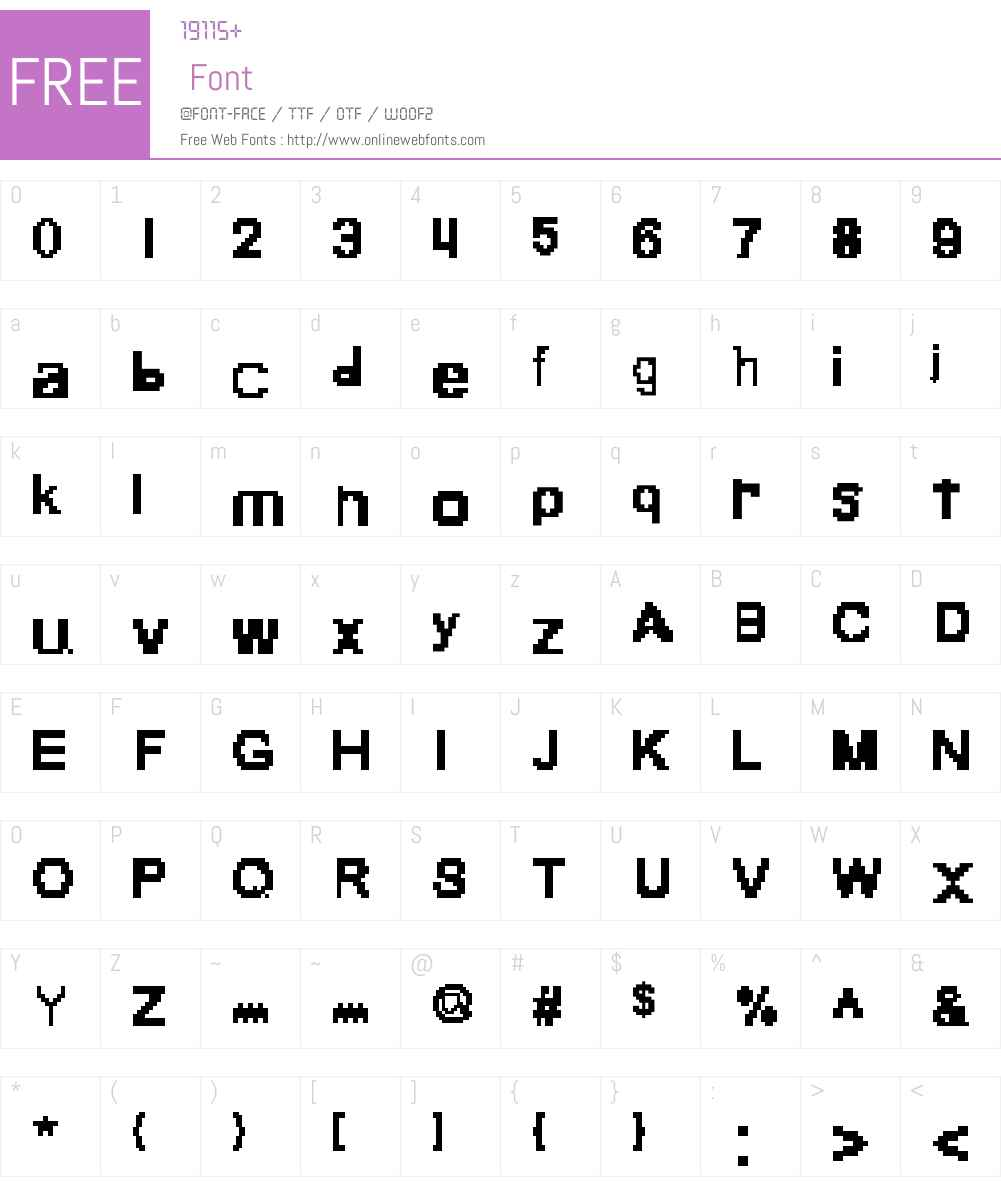 Pixlextear Font Screenshots