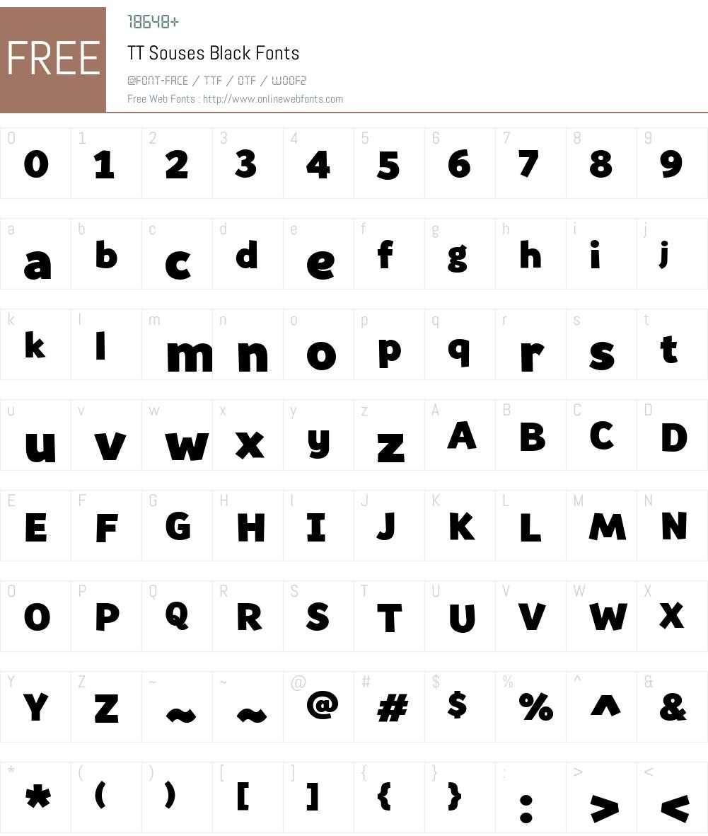 TTSouses-Black Font Screenshots