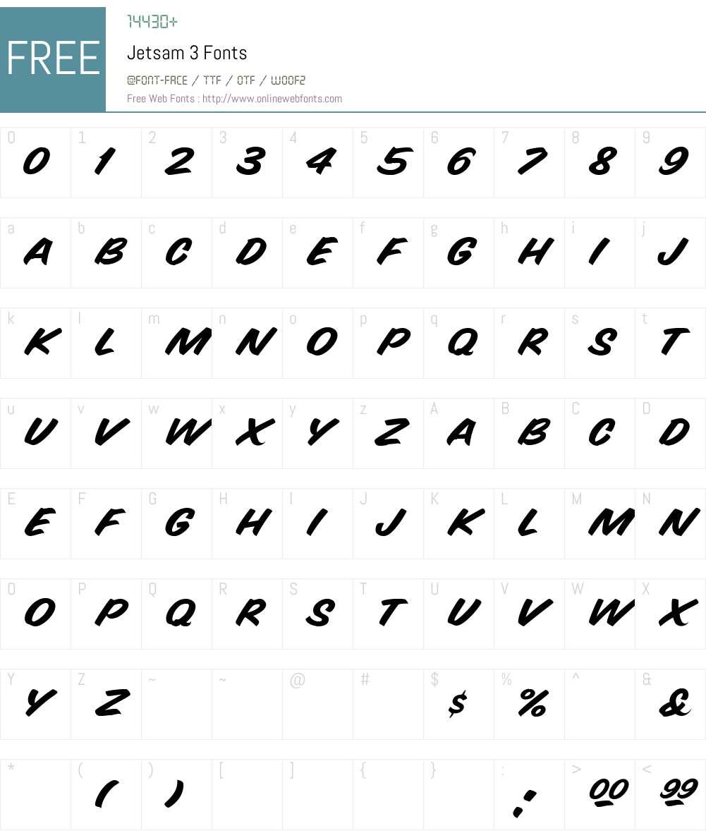 Jetsam 3 Font Screenshots