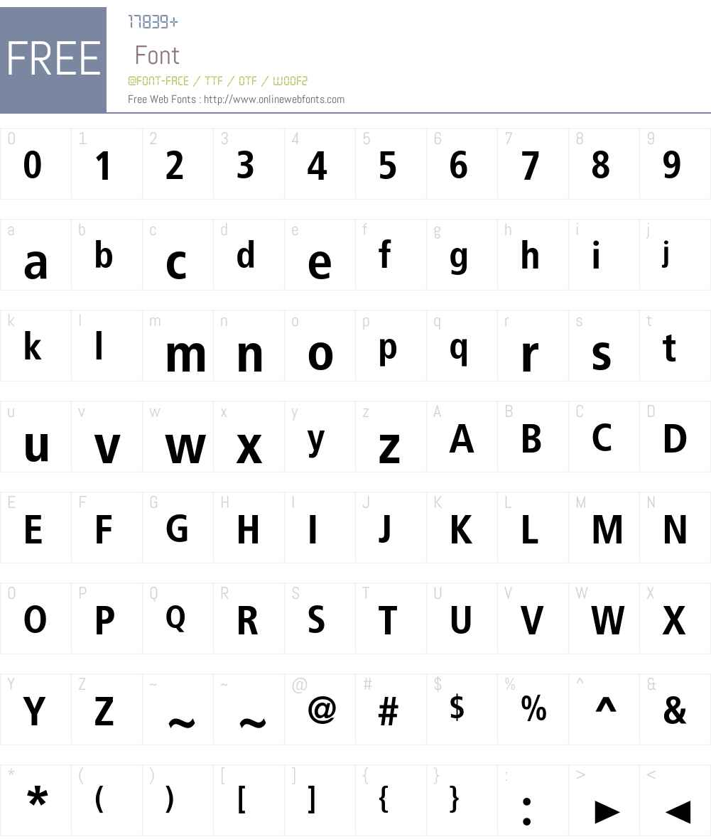 BVGPosHin Font Screenshots
