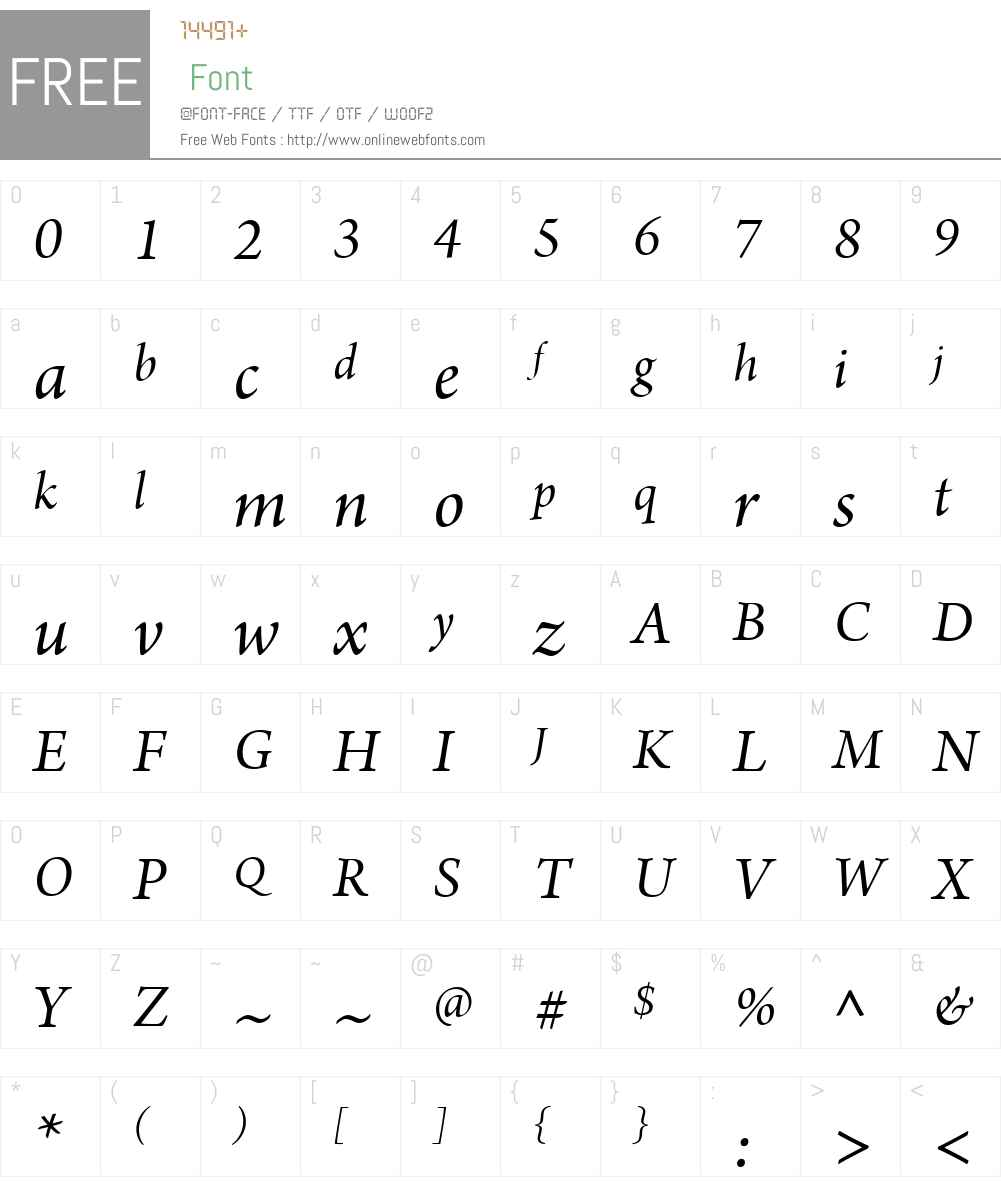 ArnoW08-SbhIt Font Screenshots