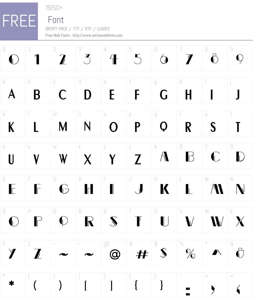 Flapper Font Screenshots