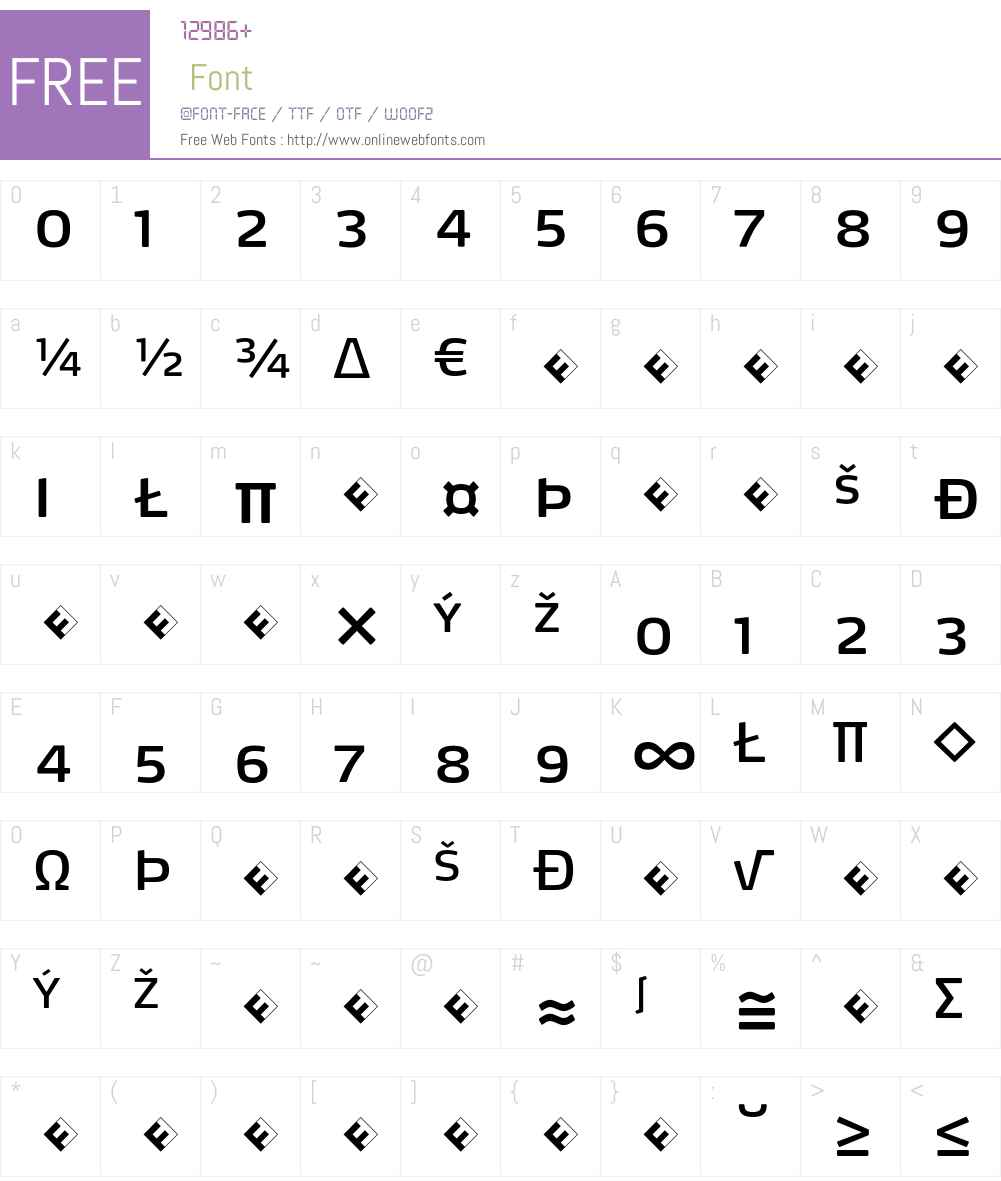 Max-BookSCExpert Font Screenshots