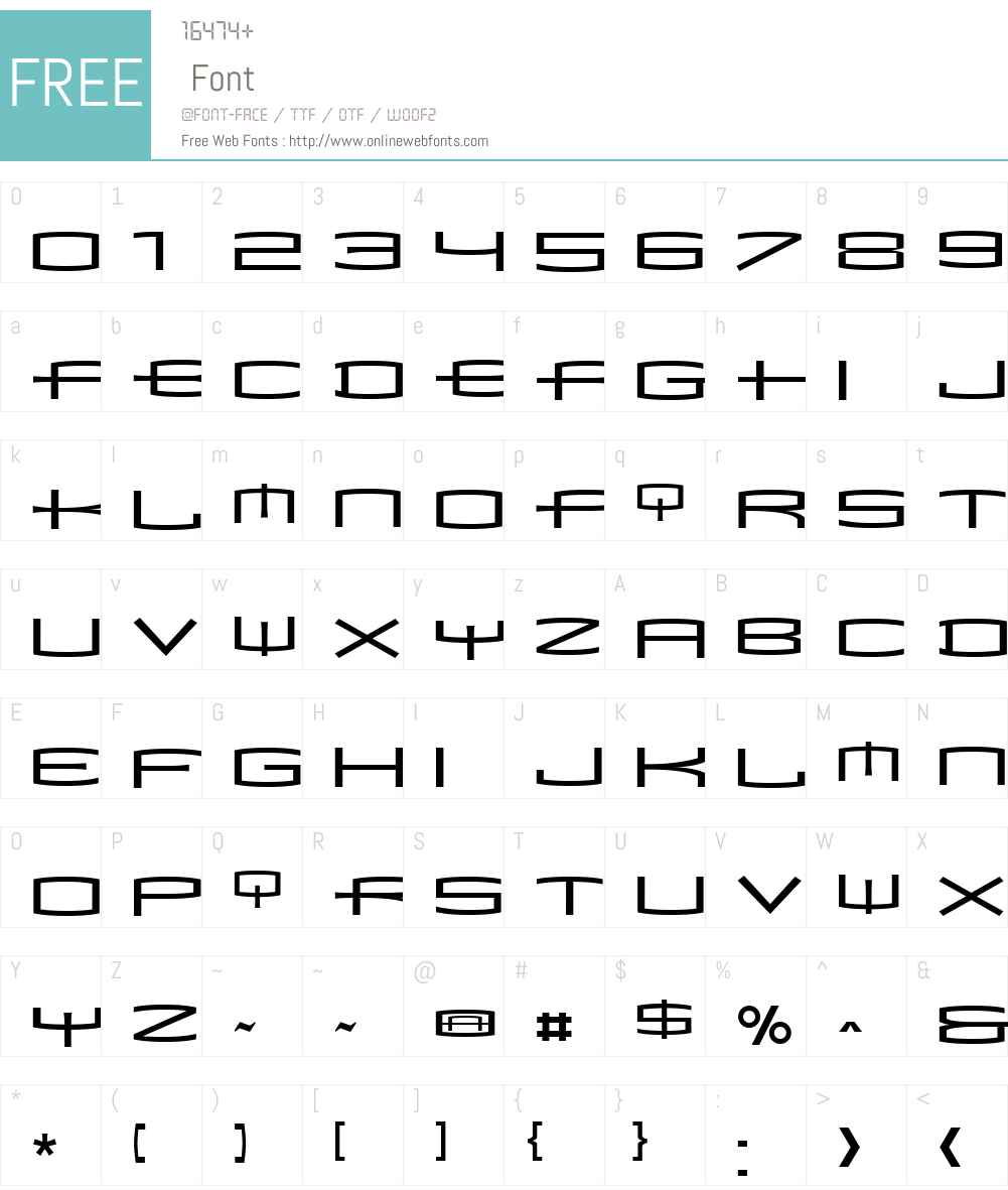 MataCondensed Font Screenshots