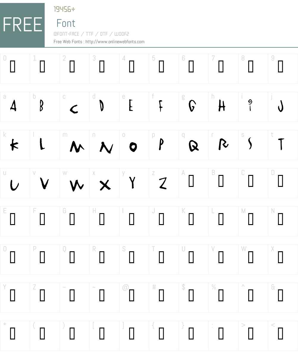 Vinterstad Font Screenshots
