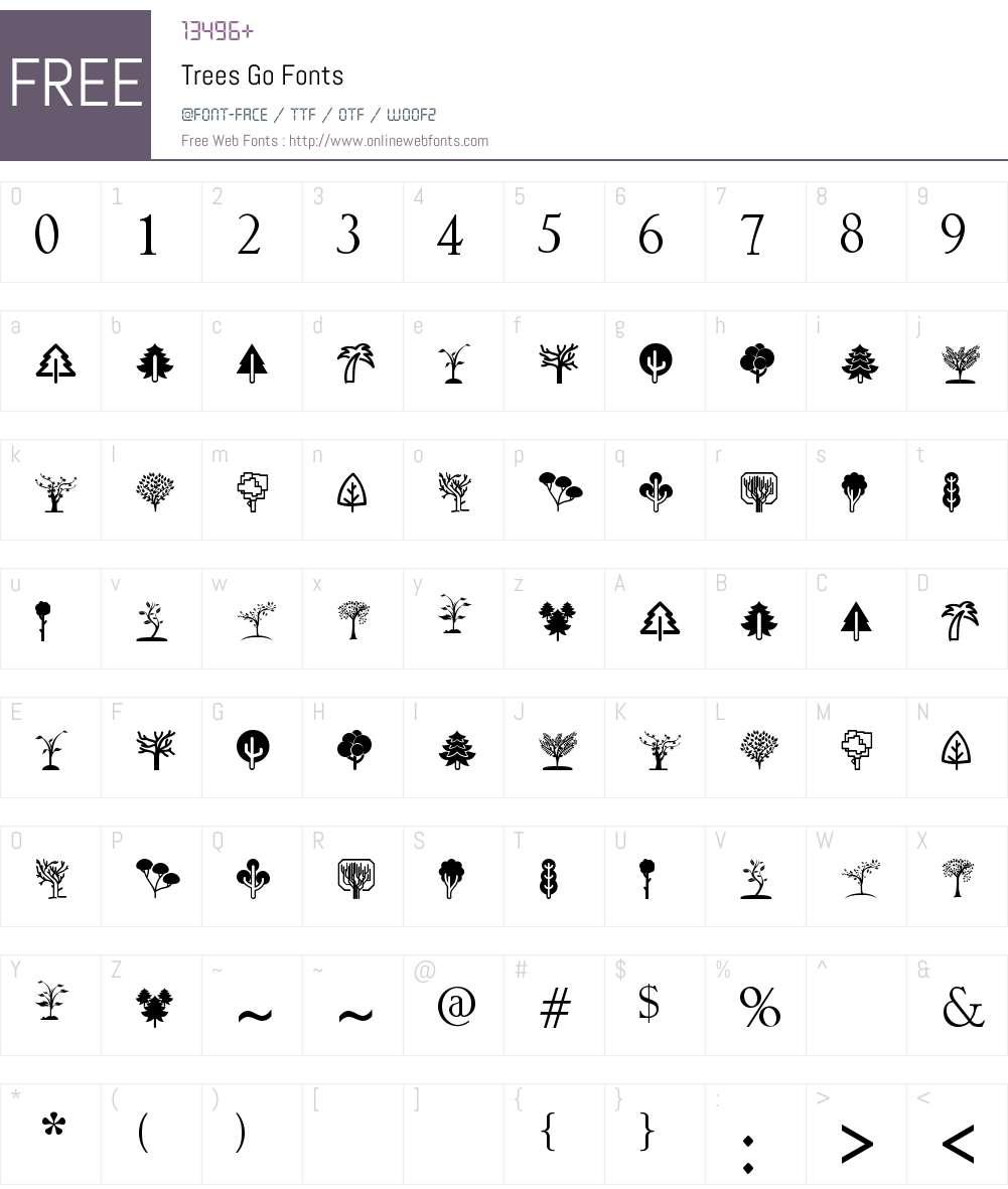 Trees Go Font Screenshots