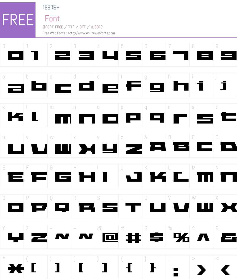 ELEPHANT Font Screenshots