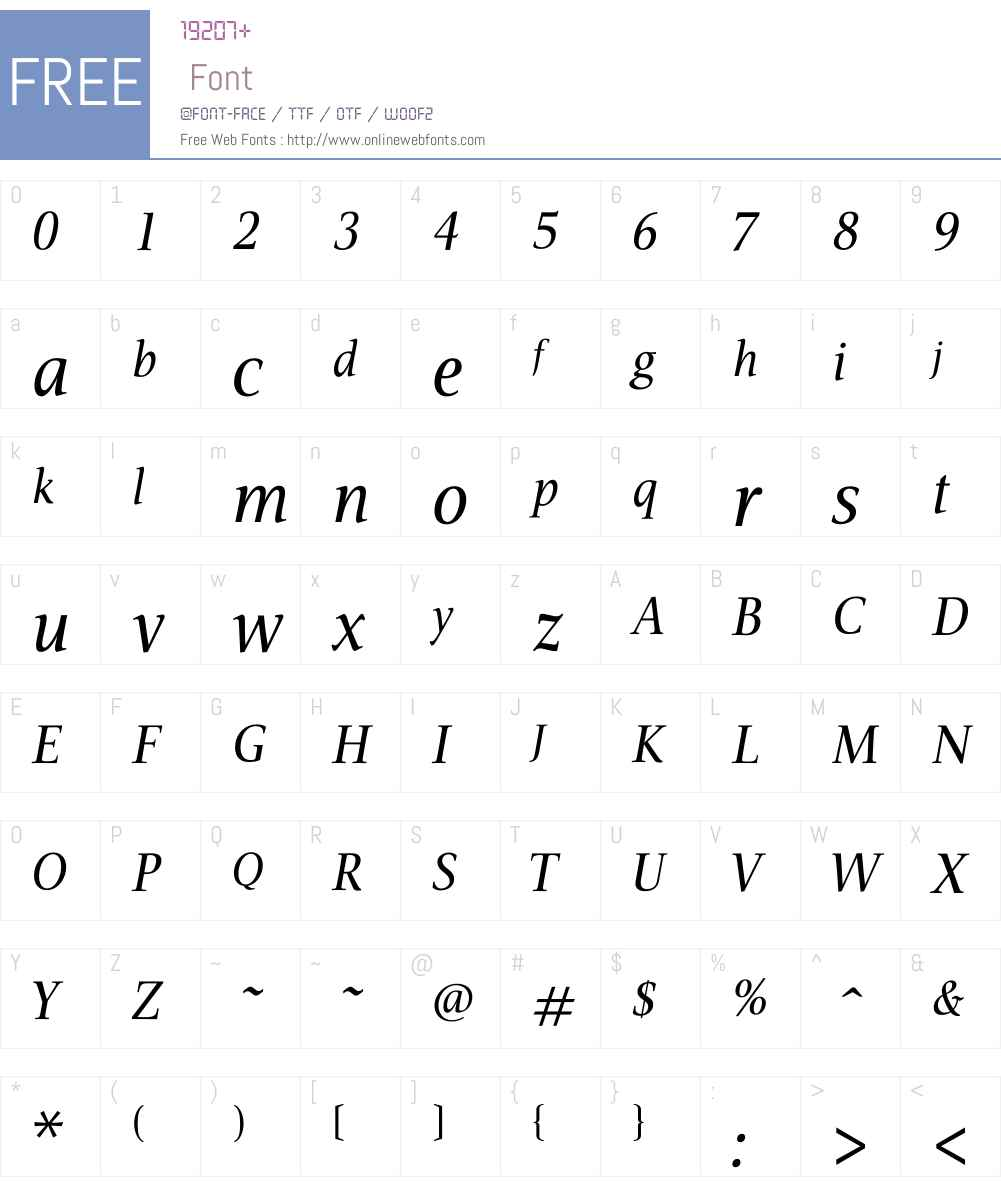 AIVeritas Font Screenshots