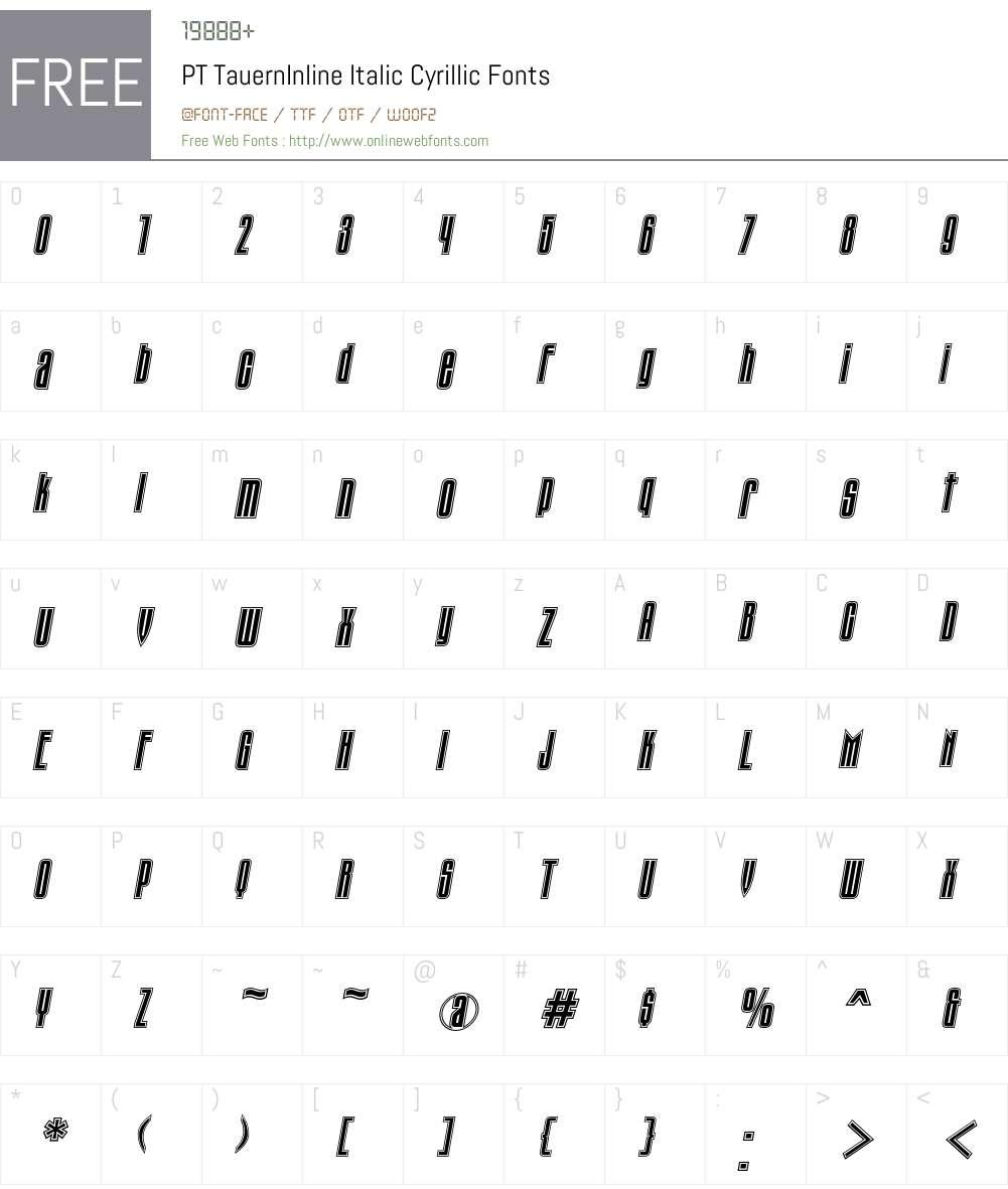TauernIC Font Screenshots
