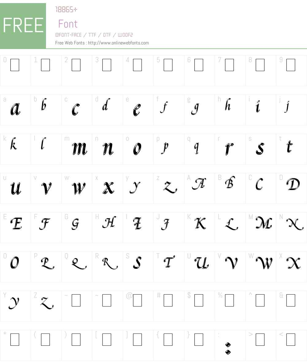 Pal Mod Font Screenshots