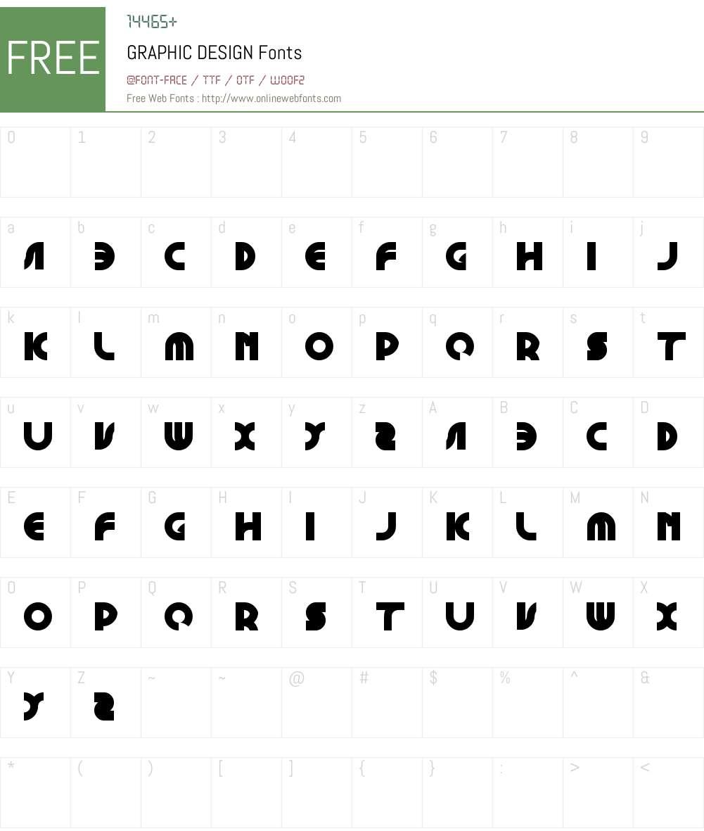 GRAPHIC DESIGN Font Screenshots