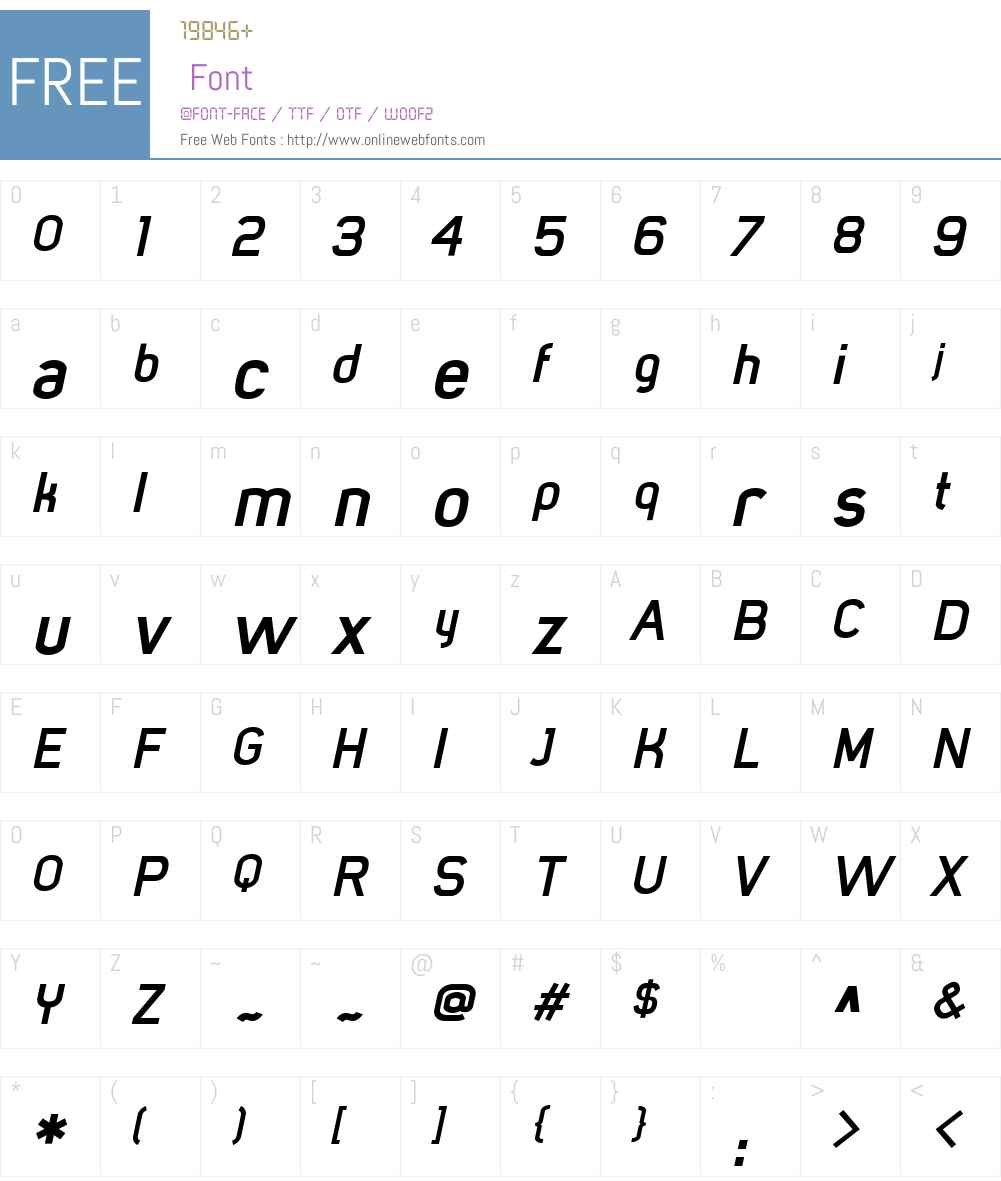 MisterGiacco Font Screenshots