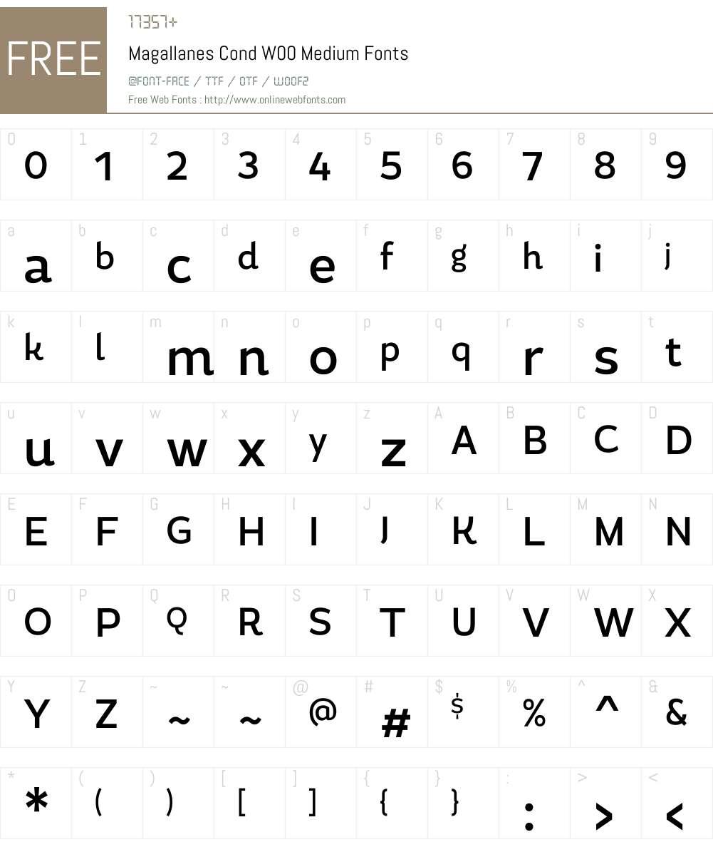 MagallanesCondW00-Medium Font Screenshots