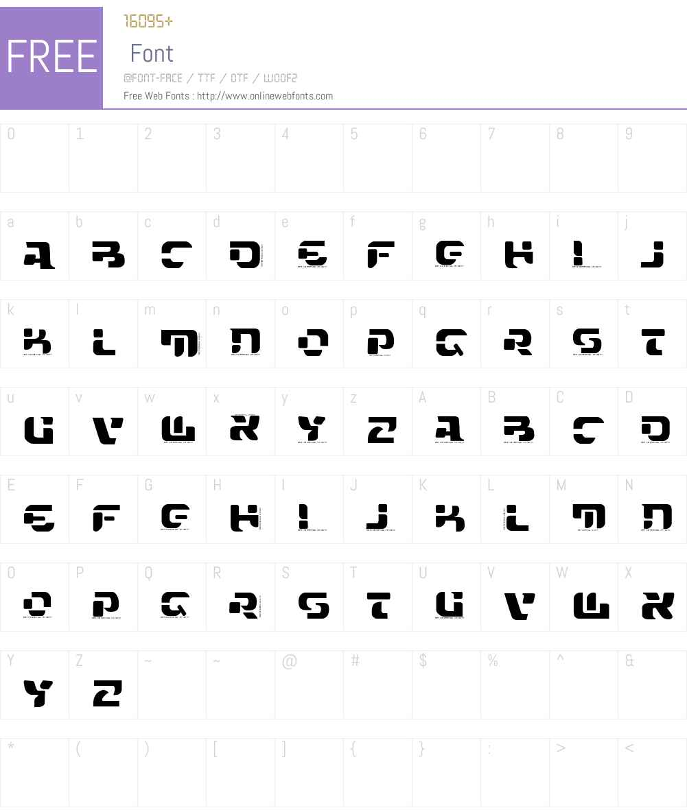 VTKS FUTURE Font Screenshots