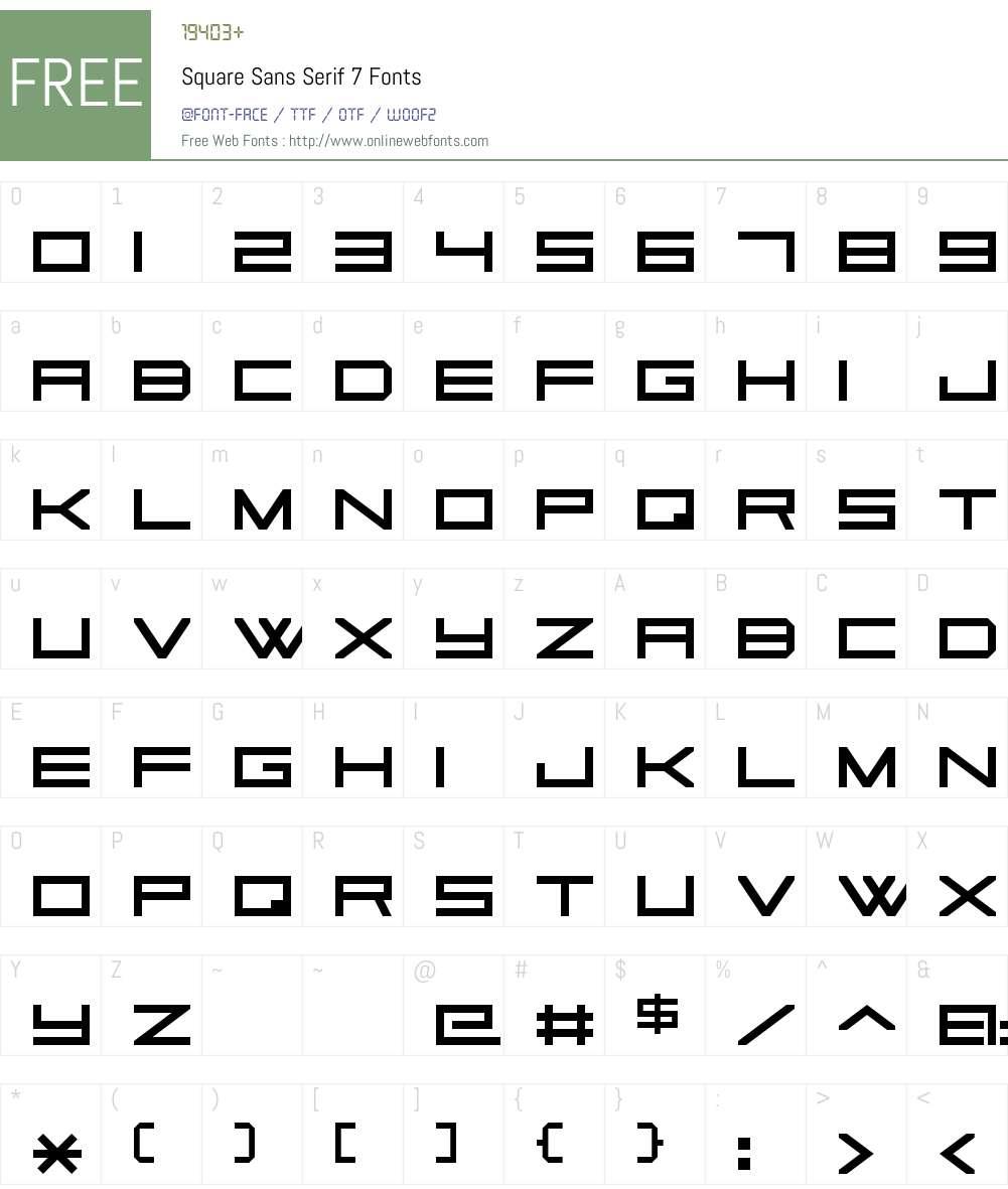 Square Sans Serif 7 Font Screenshots