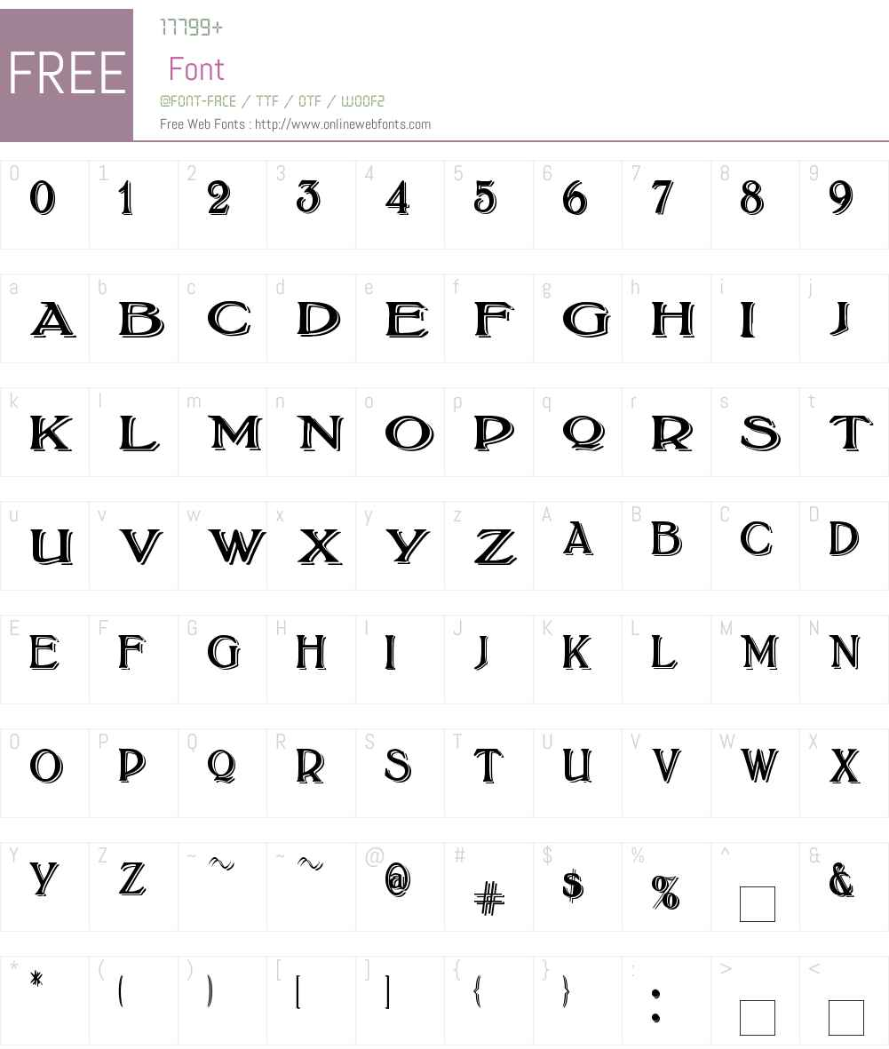 BoltonTitlingShadowed Font Screenshots