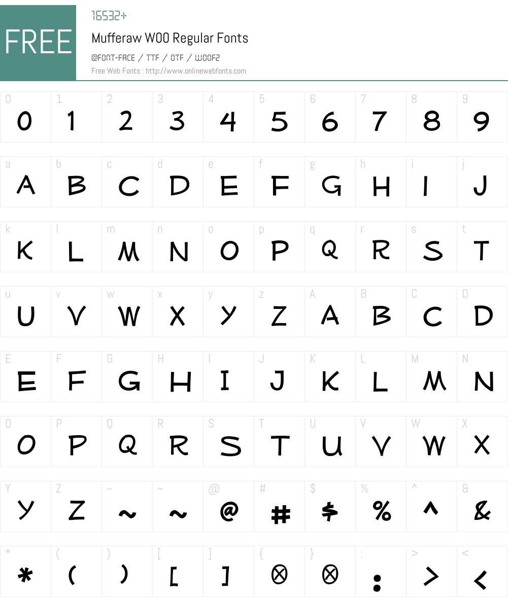 MufferawW00-Regular Font Screenshots
