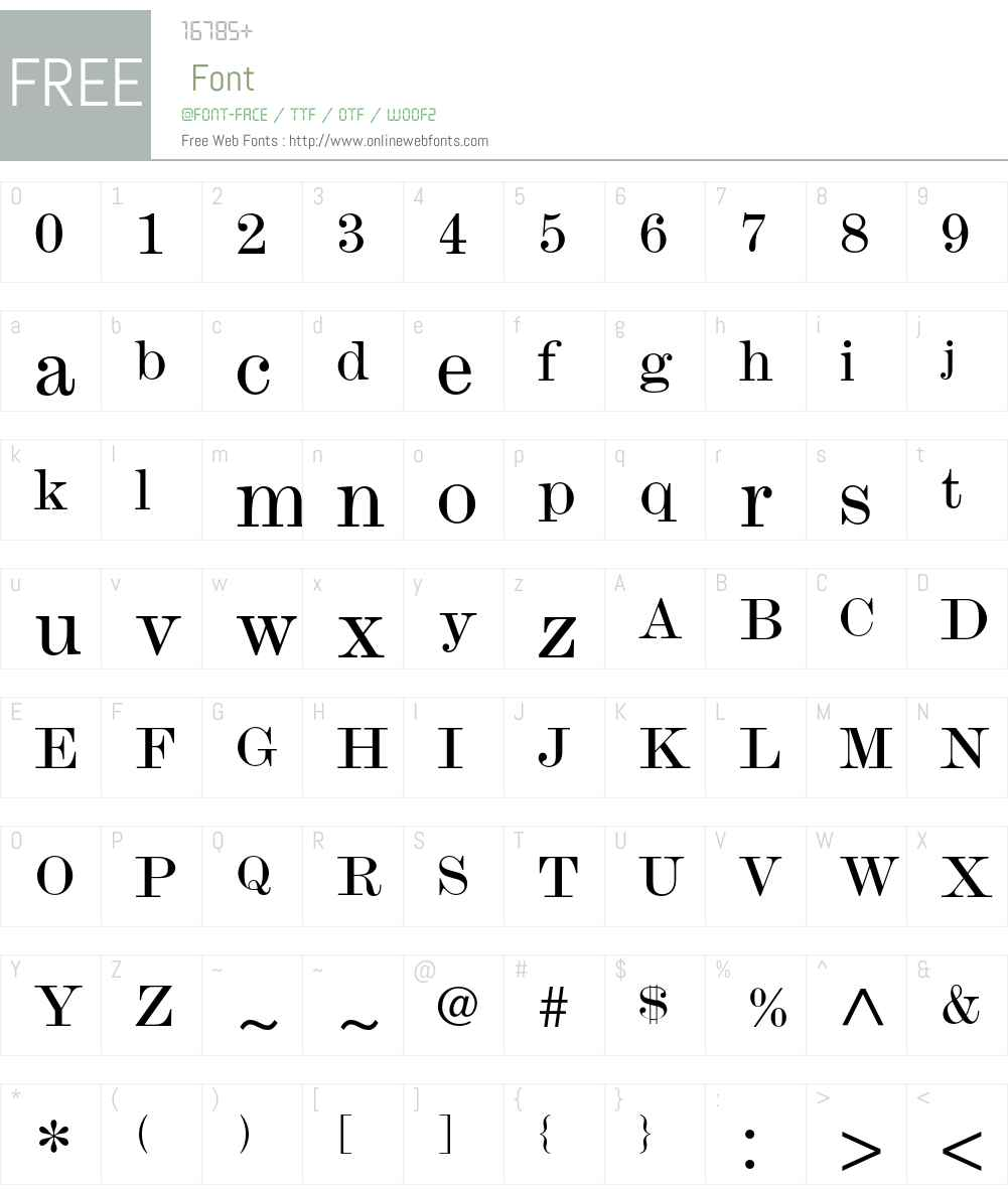 Monotype Modern Font Screenshots