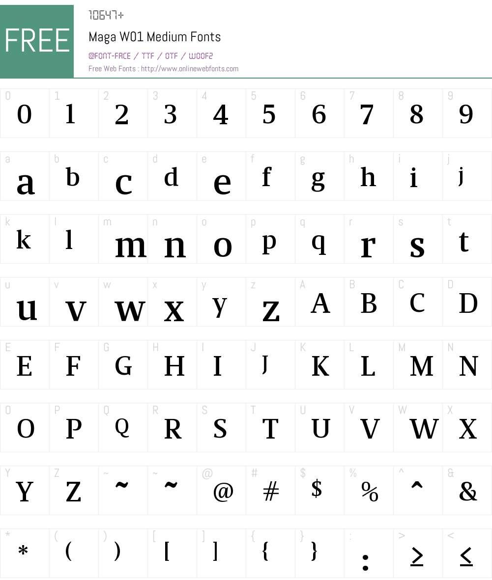 MagaW01-Medium Font Screenshots
