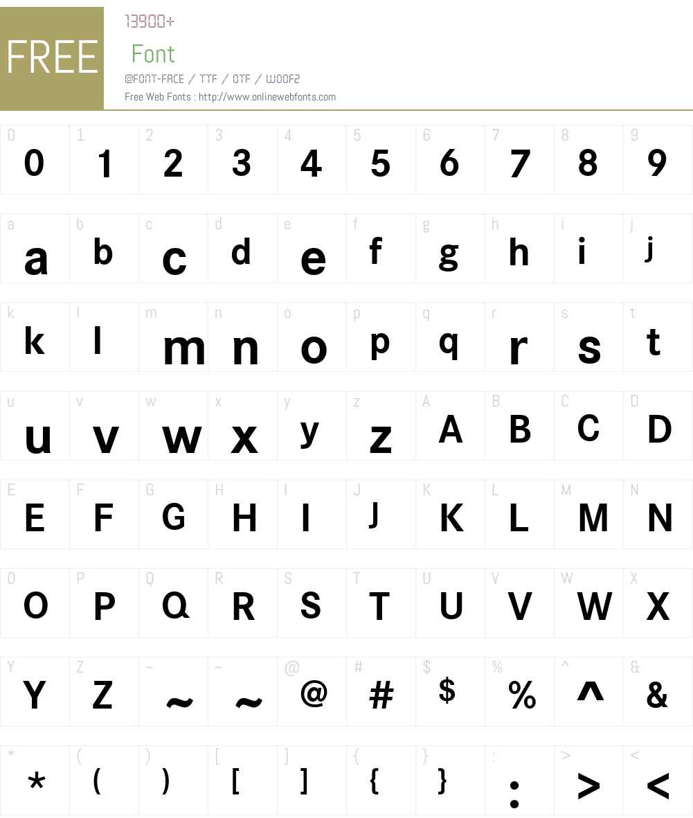 CorporateSW02-Bold Font Screenshots